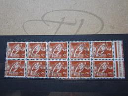 """VEND BEAUX TIMBRES DE FRANCE N° 1115 EN BLOC DE 10 , OBLITERATIONS """" ST-MALO """" !!! - 1957-59 Moissonneuse"""