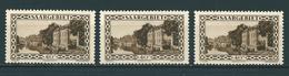 3x Saar MiNr. 113 ** (sab04) - 1920-35 Société Des Nations