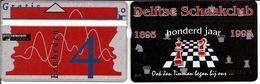 Phonecard Magneet Kaart Delftse Schaakclub 100 Jaar 1895 - 1995 4 Eenheden Not Used Telefoonkaart - Privé