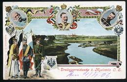 AK/CP Litho  Myslowitz  Gel./circ. 1906   Erhaltung /Cond. 2   Nr. 00668 - Schlesien