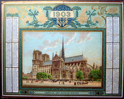CALENDRIER 1903 DE LA POSTE PTT OBERTHUR NOTRE DAME DE PARIS TRES BON ETAT - Calendriers