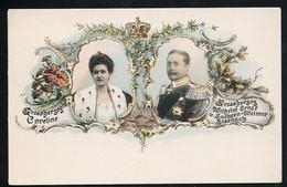 AK/CP Litho Caroline Von Sachsen   Wilhelm Ernst Von Sachsen Weimar  Ungel./uncirc. 1900  Erhaltung /Cond. 1-  Nr. 00670 - Familles Royales