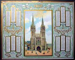 CALENDRIER 1906 DE LA POSTE PTT OBERTHUR CATHEDRALE DE SAINT POL DE LEON   TRES BON ETAT - Calendriers