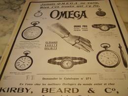 ANCIENNE PUBLICITE GRAND PRIX PARIS 1900 MONTRE OMEGA 1910 - Bijoux & Horlogerie