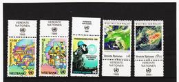 LKA176 UNO WIEN 1989 MICHL 89/93 Mit TABS ** Postfrisch Siehe ABBILBUNG - Centre International De Vienne