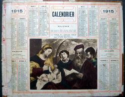 CALENDRIER 1915 DE LA POSTE PTT  ETAT TRES MOYEN LA VIERGE ET L'ENFANT JESUS - Non Classés