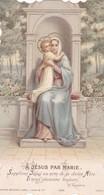 """Ancienne Image Pieuse Religieuse Bouasse Lebel 5269 """"A Jesus Par Marie"""" 1906 - Religion & Esotérisme"""
