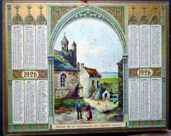 CALENDRIER 1926 DE LA POSTE PTT  EGLISE SAINT COLOMBAN CARNAC  TRES BEL ETAT - Calendriers