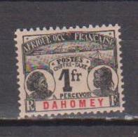 DAHOMEY   N°  YVERT  :  TAXE  8   NEUF AVEC  CHARNIERES      ( Ch  2/07  ) - Dahomey (1899-1944)