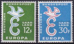 SAARLAND 1958 Mi-Nr. 439/40 ** MNH - CEPT - 1958