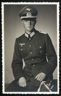 Foto AK/CP  Porträt  Wehrmacht Dolch Dagger  Medal  Panzerfahrer  Ungel/uncirc.1940  Erhaltung/Cond. 1  Nr. 00679 - Guerra 1939-45