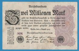 DEUTSCHES REICH 2 Millionen Mark09.08.1923 Serie# MM  P# 104a - 2 Millionen Mark