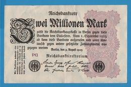 DEUTSCHES REICH 2 Millionen Mark09.08.1923 Serie# PG  P# 104a - 2 Millionen Mark