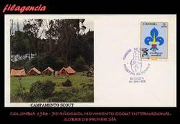 AMERICA. COLOMBIA SPD-FDC. 1983 75 ANIVERSARIO DEL MOVIMIENTO SCOUT - Colombie