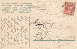 804/28 - Griffe D'origine MEIX Devant VIRTON Sur Carte Fantaisie TP Grosse Barbe VIRTON 1907 Vers France - Poststempel