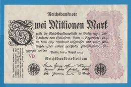DEUTSCHES REICH 2 Millionen Mark09.08.1923 Serie# VD  P# 104b - [ 3] 1918-1933 : Weimar Republic