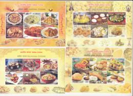 India MNH 2017, Miniature X 4, Set Of 16, Indian Cuisine, Food, Culture, - India