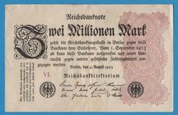 DEUTSCHES REICH 2 Millionen Mark09.08.1923 Serie# VL  P# 104c - 2 Millionen Mark