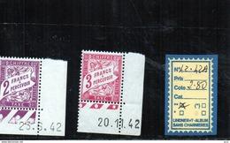 FRANCE TAXE  LUXE** N°42/42A - Portomarken