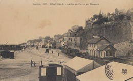 Cpa Granville Forains  Ancienne Gare    Train  Rue Du Port   Peu Courante Editeur Trefle Beau Plan - Granville