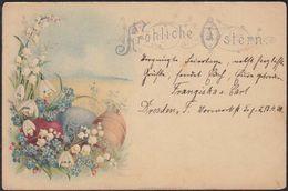 AK Fröhliche Ostern 1900 Dresden Nach Grimma       (12650 - Ansichtskarten