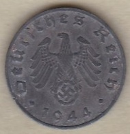 1 Reichspfennig 1944 B (HANNOVER) En Zinc - [ 4] 1933-1945 : Third Reich