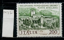 Italie - Italy - Italien 1980 Y&T N°1432 - Michel N°1700 *** - 200l Monastère De Fonte Avellan - 6. 1946-.. Republik