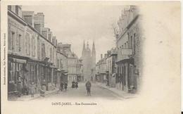Carte Postale Ancienne De Saint James(50) La Rue Fauconniere - France