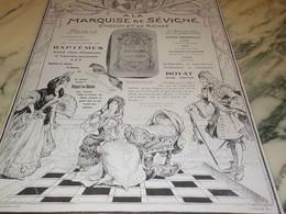 ANCIENNE PUBLICITE  CHOCOLAT DE ROYAT MARQUISE DE SEVIGNE 1910 - Afiches