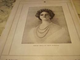 ANCIENNE PUBLICITE PERLES ET VRAIS DIAMENTS TECLA 1910 - Autres