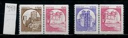 Italie - Italy - Italien 1980 Y&T N°1457hb à 1459hb - Michel N°1725Duo à 1727Duo *** - Châteaux - 1946-.. République