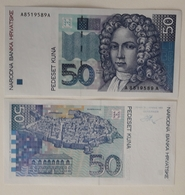 CROATIA 50 Kuna 1993 UNC Pick 30 Prefix AA - Croatia