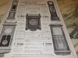 ANCIENNE PUBLICITE CARILLONS WESTMINSTER 1910 - Autres