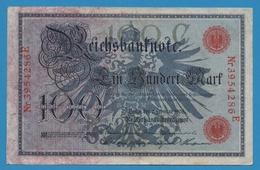 DEUTSCHES REICH 100 Mark 07.02.1908 Serie# 3954286E  P# 33a - [ 2] 1871-1918 : Empire Allemand