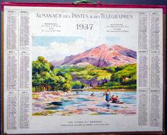 CALENDRIER 1937 DE LA POSTE  P T        VALLEE DU CAREI  TRES BEL ETAT - Calendars