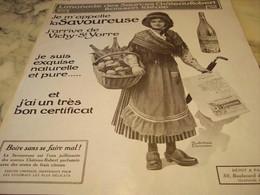 ANCIENNE PUBLICITE LIMONADE LA SAVOUREUSE DE VICHY 1910 - Affiches