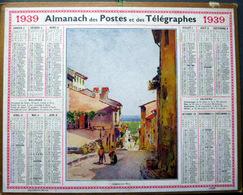 CALENDRIER 1939 DE LA POSTE  P T  T  CAGNES SUR MER   TRES BEL ETAT - Calendriers