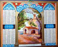 CALENDRIER 1940 DE LA POSTE  P T  T  CHAPELLE DE LA GAROUPE    TRES BEL ETAT - Calendars