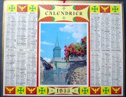 CALENDRIER 1955  DE LA POSTE  P T  T  LA PETITE EGLISE TRES BEL ETAT - Calendars