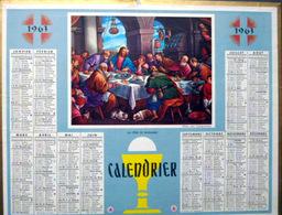 CALENDRIER 1963  DE LA POSTE  P T  T  LA CENE DE BASSANO TRES BEL ETAT - Calendars