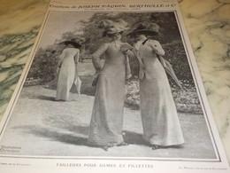 ANCIENNE PUBLICITE CREATIONS DE JOSEPH PAQUIN BERTHOLLE   1910 - Cioccolato
