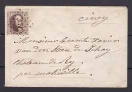 N° 14 / Lettre De HAVELANGE ( LP 171 ) Vers CINEY Du  17 Juin 1865 ( Petite Enveloppe Lsc ) - 1863-1864 Medallions (13/16)