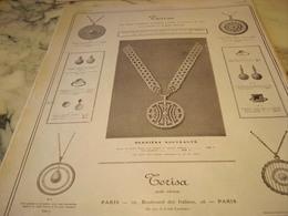 ANCIENNE PUBLICITE PERLES TERISA 1910 - Bijoux & Horlogerie