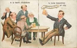 CARTE DÉPLIANT - à La Table D'habituée, Yu Bois Beaucoup Et Vite ....(carte Vendue En L'état). - A Systèmes