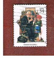 STATI UNITI (U.S.A.) - SG  3920  - 2001 AMERICAN ILLUSTRATORS: DOCTOR & CHILD (FROM BF) - USED - Used Stamps