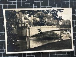 Tübingen, Neckarbrücke, Uhlandhaus, Foto Ak (1440) - Tübingen