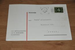 33-   N.V. METAALINDUSTRIE V/h H. WAELBERS, RUINERWOLD - 1961 - Kaarten
