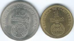 Cape Verde - 1985 - 10th Anniversary Of Independence - 1 Escudo (KM23) & 10 Escudos ((KM24) - Cap Vert