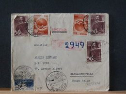 79/947A  REGISTRED LETTER 1949 TO CONGO BELG - Angola