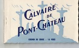 Pont-Chateau Calvaire Chemin De Croix Carnet De 15 Cartes Postales - Pontchâteau
